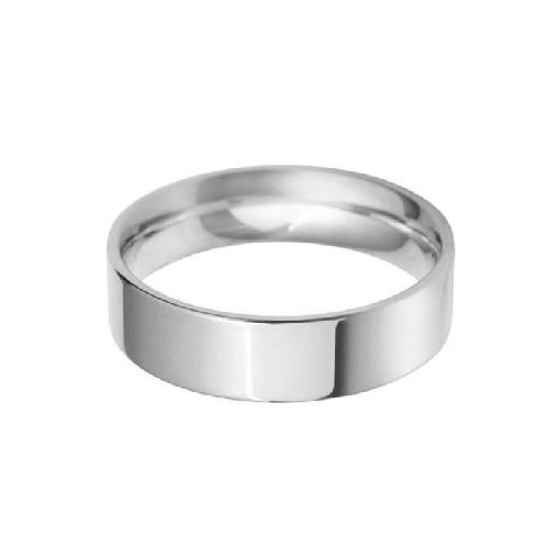 Flat court Wedding ring